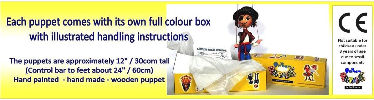 Pelham Puppets Each puppet comes with its own full colour box